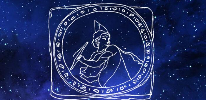 Сабианские символы Сатурна и Юпитера