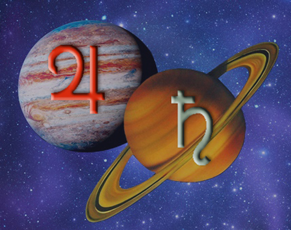 Jupiter-Saturn-glyfy-planet